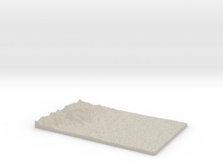 Model of Toandos Peninsula 3d printed