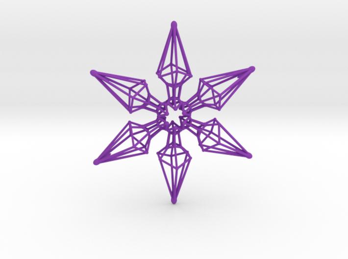 6 Point Ninja Star - 7cm 3d printed