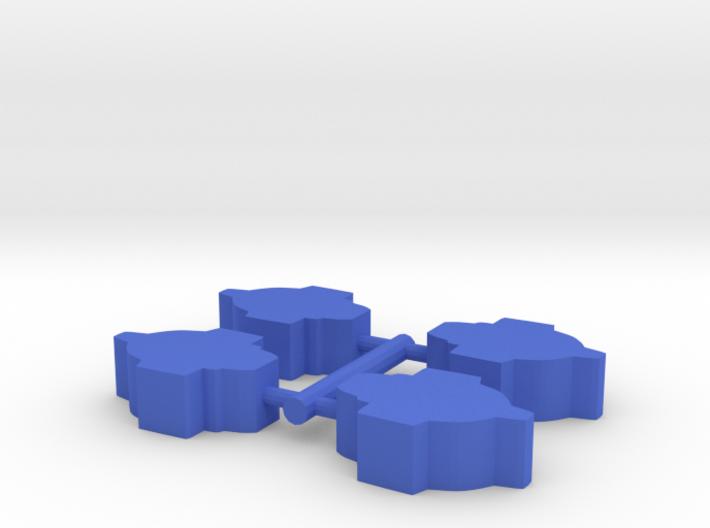 Game Piece, Federation Escort, 4-set 3d printed
