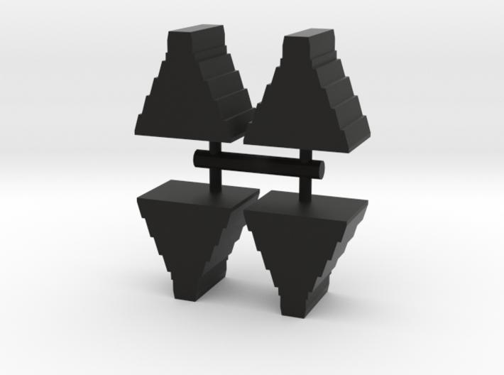 Game Piece, Mayan Temple, 4-set 3d printed