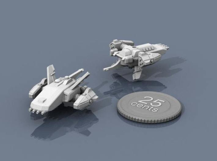 Ryuushi Stalker 3d printed Renders of the model, with a virtual quarter for scale.