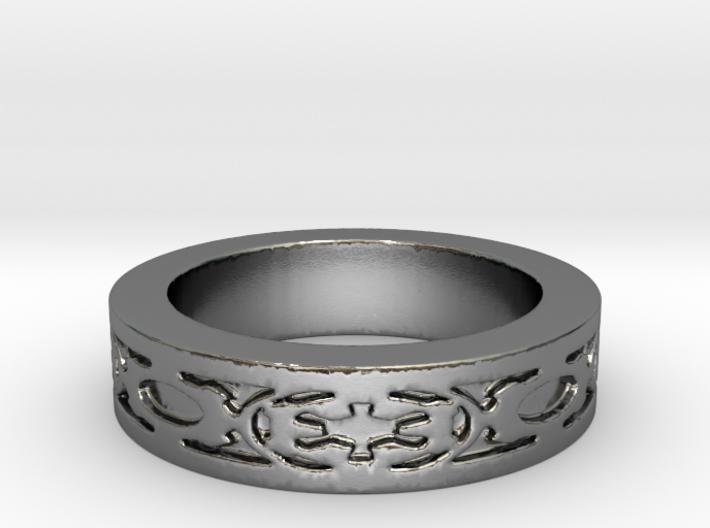 DarkSide Ring delta Size 5.5 3d printed