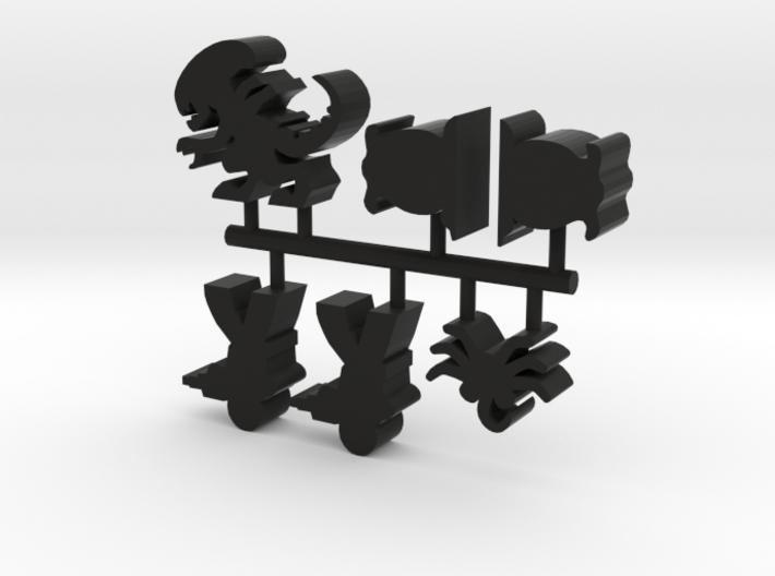 Game Piece, Stalker Alien Set 3d printed