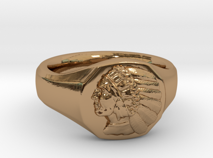 Indian Head Ring 3d printed