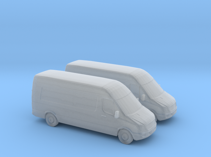 1/148 2X Mercedes Sprinter/GB 3d printed