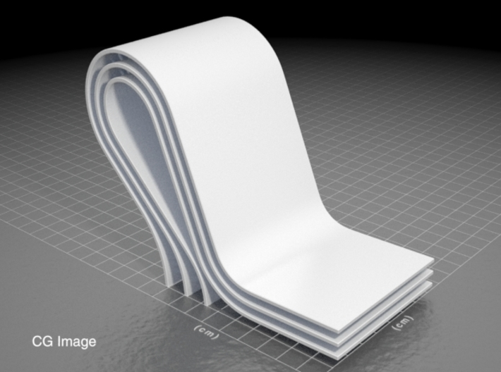 curves C (large) 3d printed CG image of the sculpture... until I post a photo of the printed model.