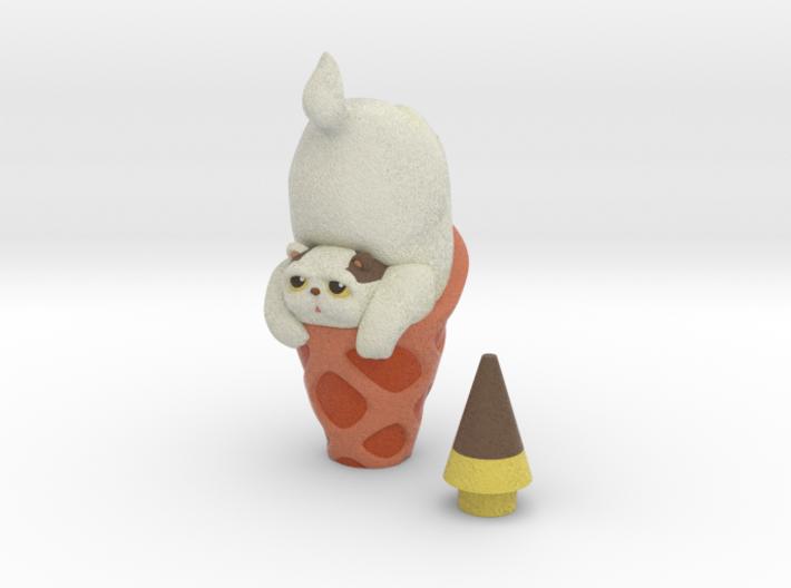 Yoghurt icecream 3d printed