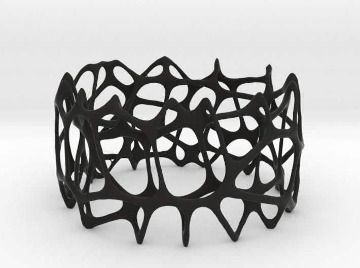 voronoi doubleshell bracelet 3d printed