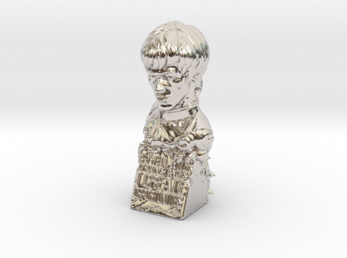 Bruce Lee Bust with Quote, Size S 3d printed
