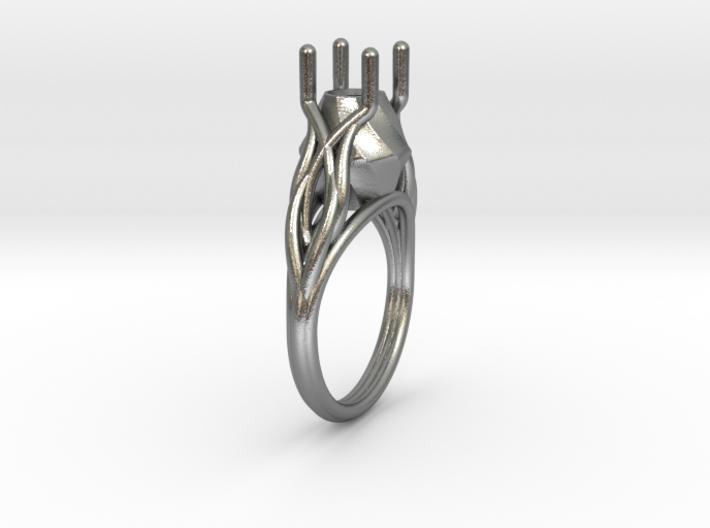 Flowering Vine Ring 3d printed
