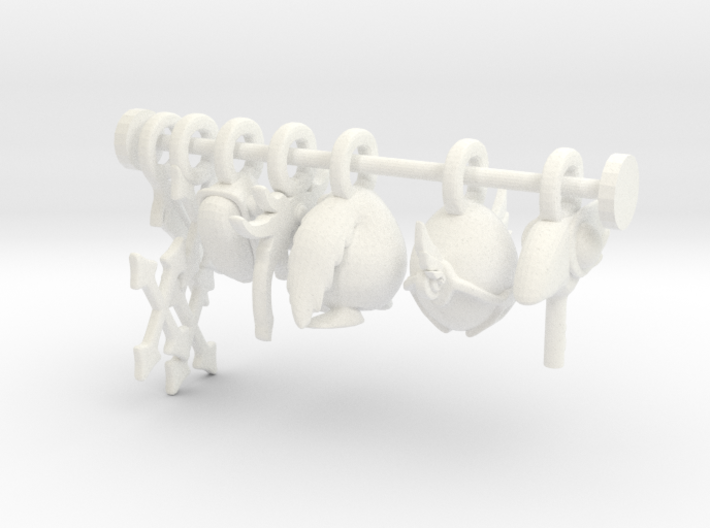 Charms: Clamp set 3d printed