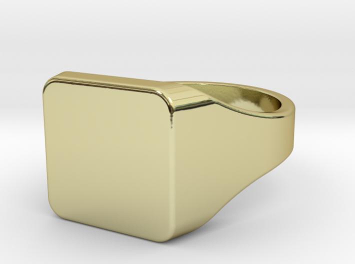 Signet ring [EU20], engraveable. 3d printed