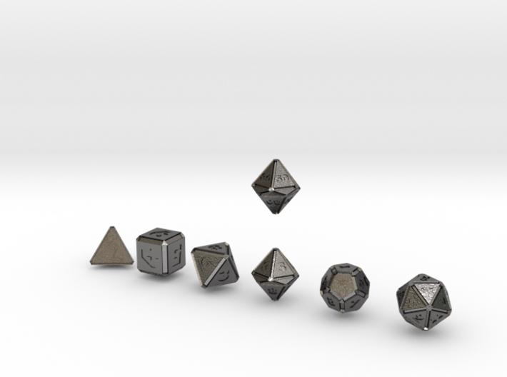 FUTURISTIC INNIE inverse bevels dice 3d printed