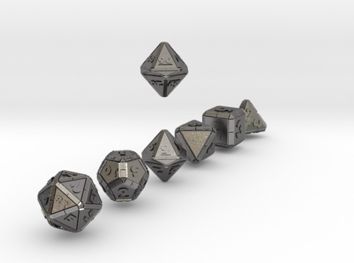 CYBERTECH Futuristic Outie Bevels Dice 3d printed