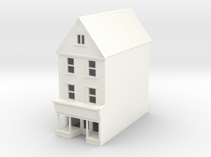 HDH-2 N Scale Honiton High street building 1:148 3d printed