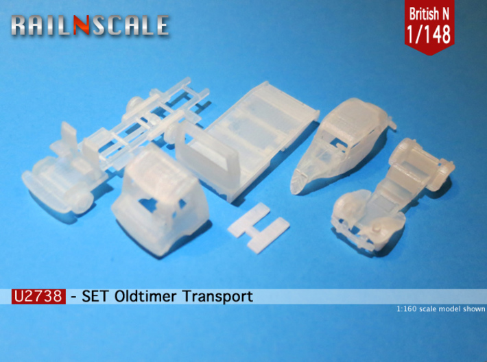 SET Oldtimer Transport (British N 1:148) 3d printed