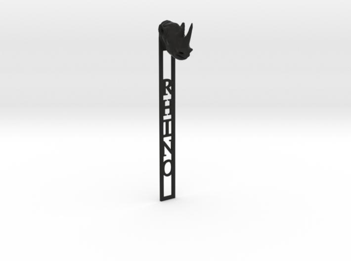 Rhino Bookmark 3d printed