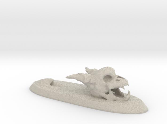 Penholder Skull Sandstone Hollow 3d printed