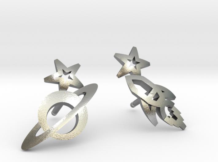 Earrings - Rocket beyond Barriers 3d printed