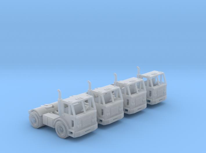 Peterbilt 320 Single Axle Truck N Scale 3d printed four Peterbilt 320 truck N scale