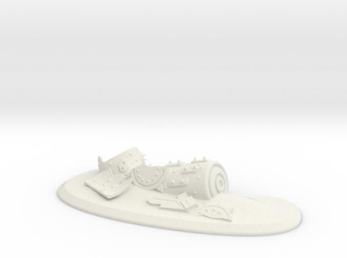 Ork  Battle Wagon Waste Land 3d printed