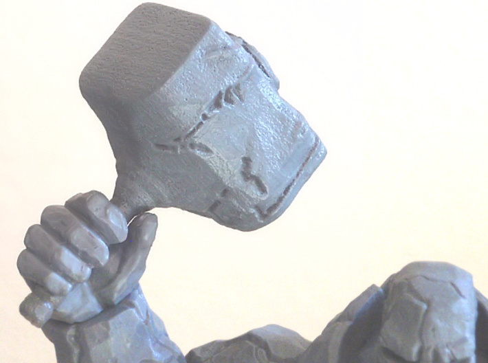 Rock Hammer 3d printed Painted Gray to match figure
