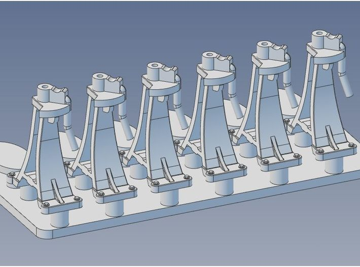 CPR Switchstand HO Scale Set of 6 3d printed