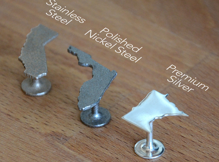 New Hampshire State Cufflinks 3d printed