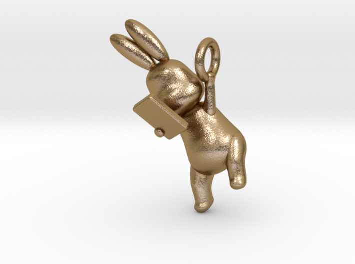 Phoneholic Rabbit Pendant 3d printed