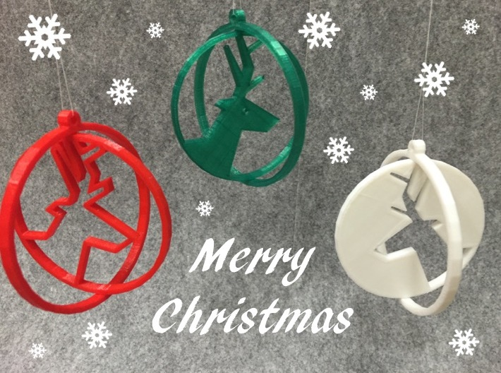 Deer ring 2 for Christmas 3d printed