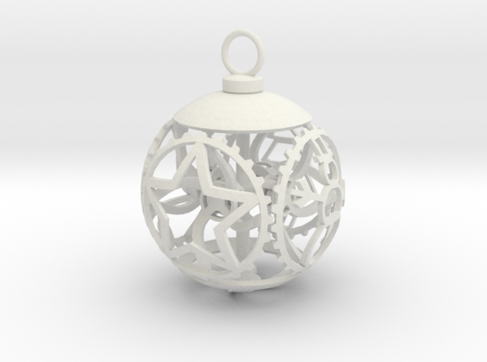 Gear Bauble 3d printed
