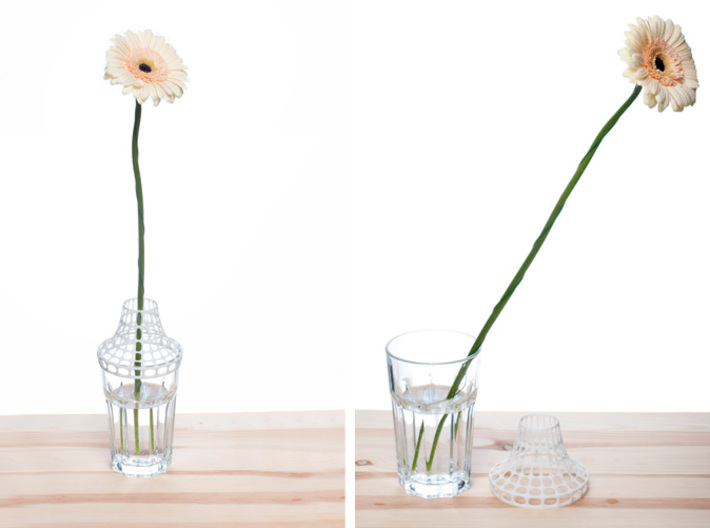 Clip on vase 3d printed Before & After