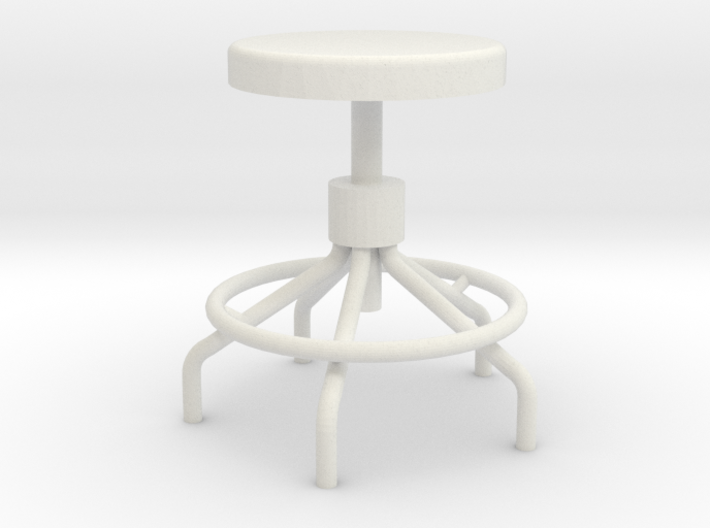 Miniature Sputnick Stool 1:18scale (not full size) 3d printed