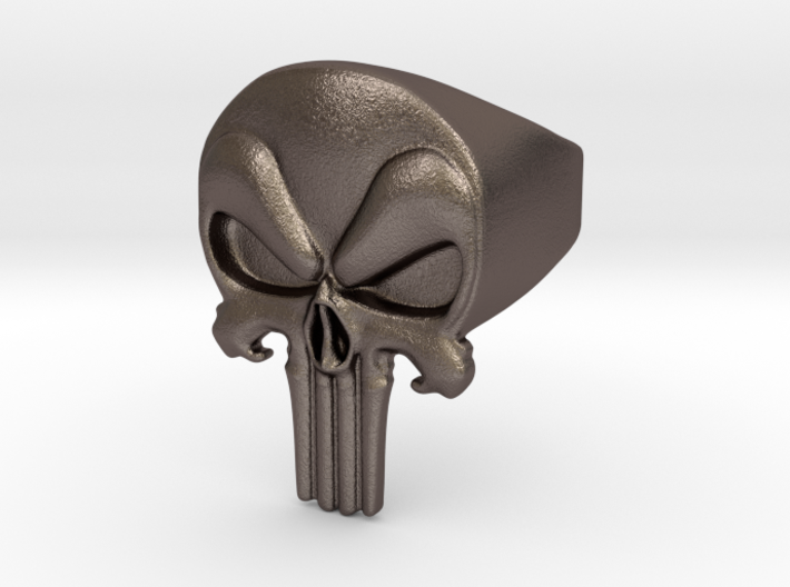 Punisher Bottle Opener Ring Size 11 3d printed