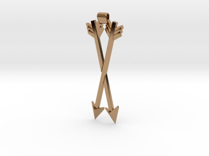 Crossed Arrows Pendant 3d printed