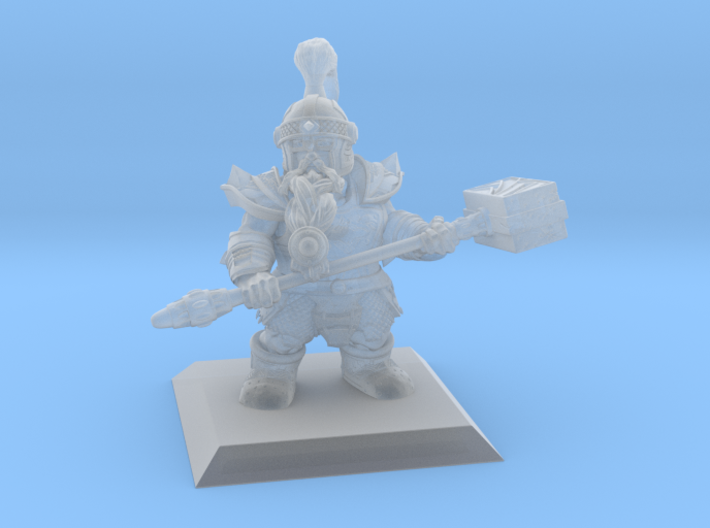 Dwarf Warrior 35mm Nº2 3d printed