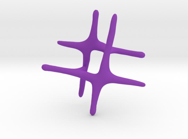 3D Octothorpe 3d printed