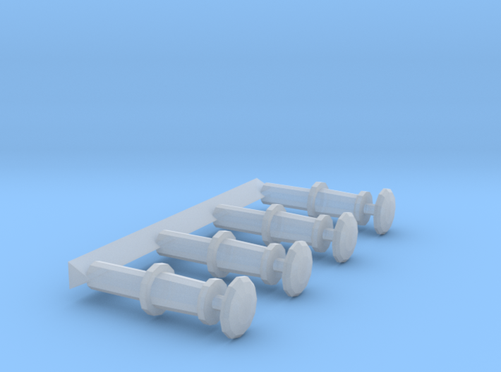 "00 12"" Wagon Buffers Buff04 3d printed"