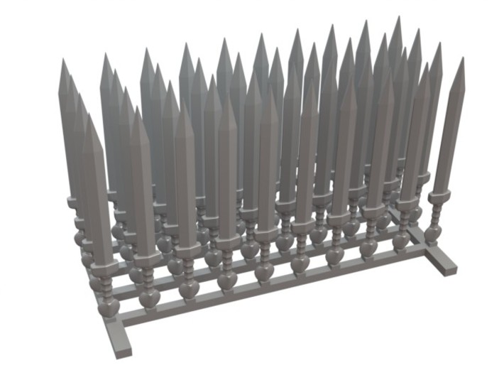 40 roman swords for 28mm miniatures 3d printed