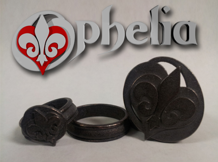 Ophelia Ring 2 - Select a Size 3d printed