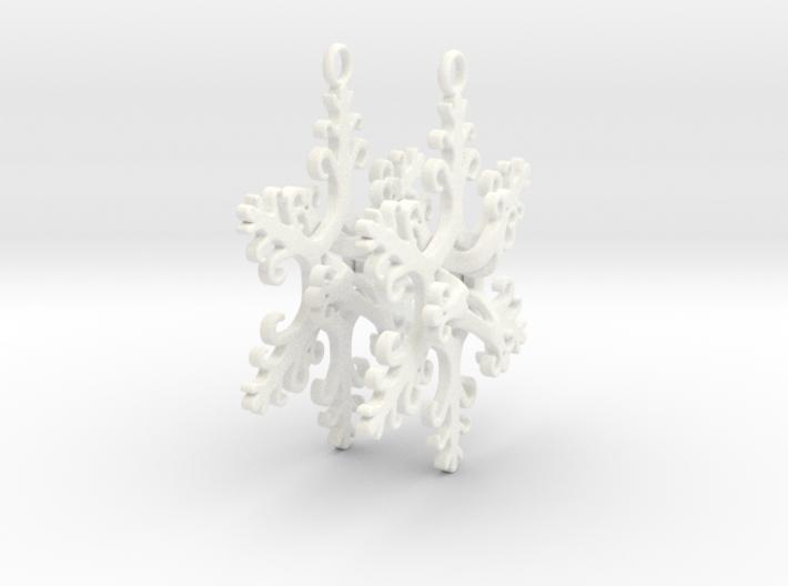 Interlaced Snowflake Earrings 3d printed