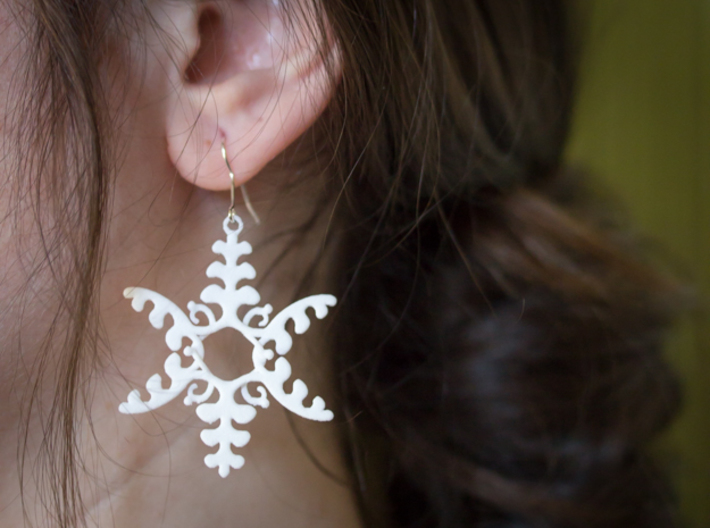 Fluttering Vines Earrings 3d printed