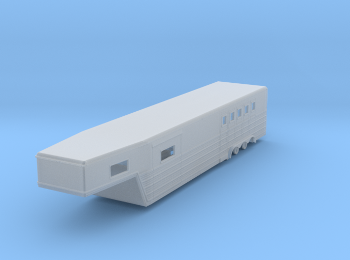 1/87th 46 foot large Bloomers type Horse Trailer 3d printed