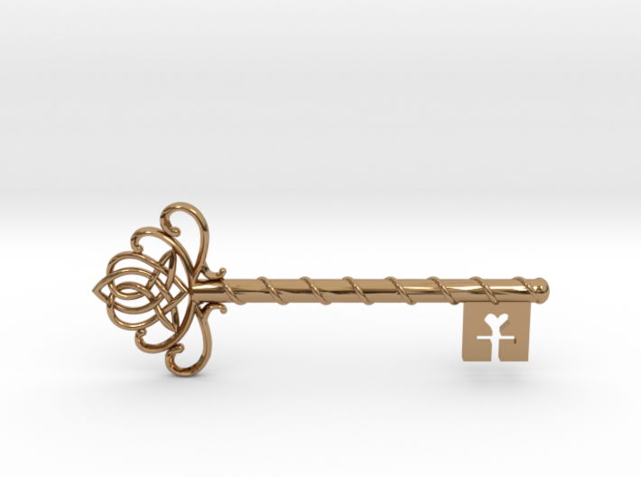 Skeleton Key with Celtic Knot 3d printed