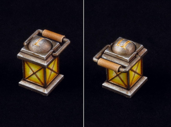 Rotating Lantern marker 3d printed Hand-painted White Strong Flexible