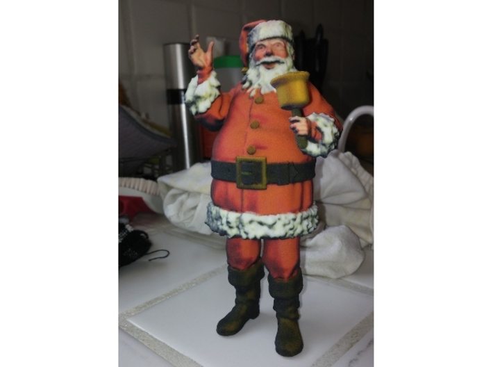 Santa Ringing a bell 1:12 scale 3d printed Just recieved print. Texture needs work.