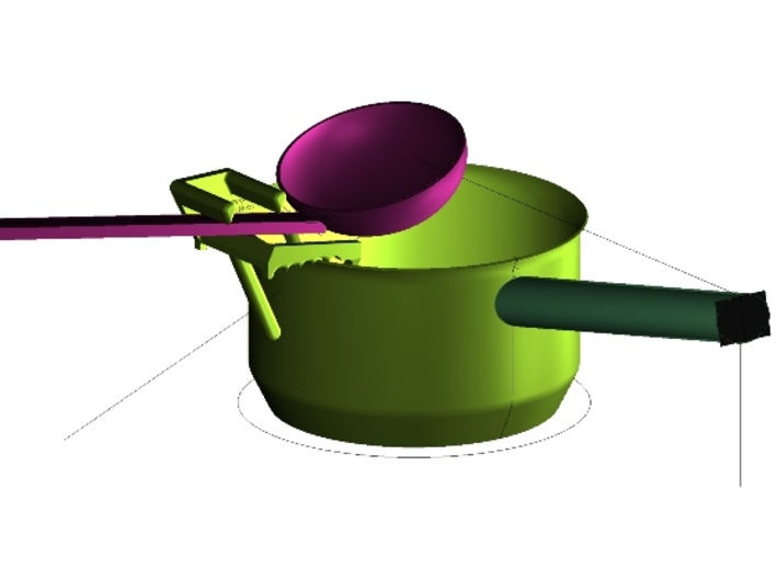 Ladle Holder for Cooking Pots 3d printed