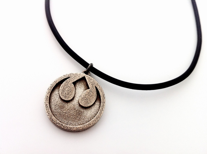 Rebel Alliance Pendant 3d printed