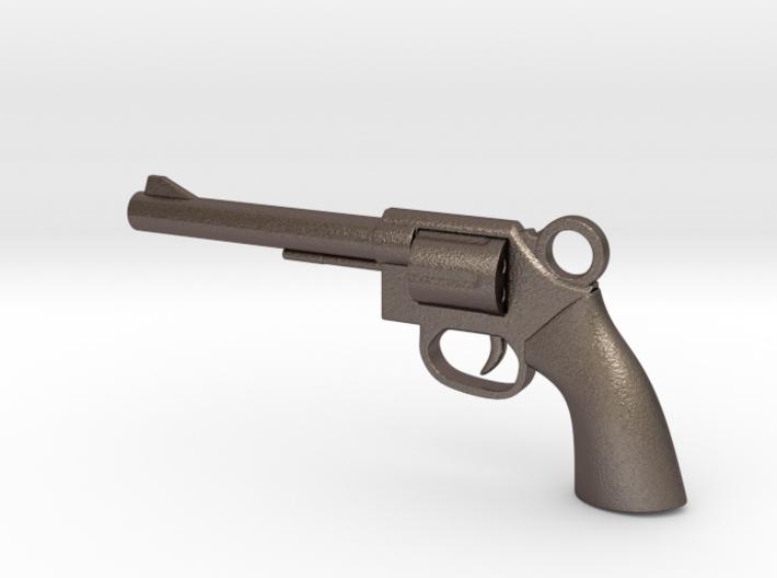 REVOLVER - GUN Pendant 3d printed