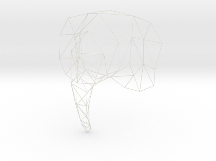 Large Elephant Head Wire For Wall 3d printed